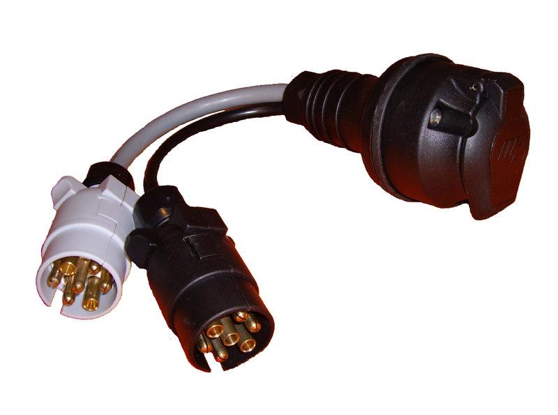 602Bclear towing adaptor 2 x 7 pin car to 13 pin caravan the tool box